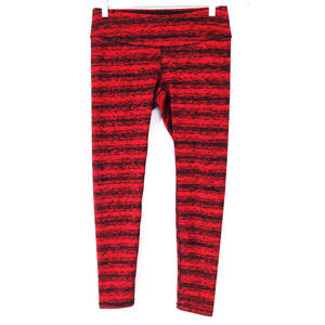 Lucy Women's Red Black Athletic Leggings Large